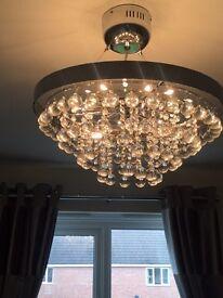 NEXT Chandelier & Matching Lamp
