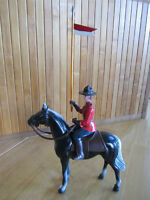 VINTAGE CANADIAN MOUNTIE ON HORSE