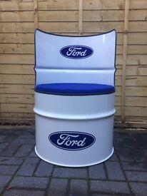 Ford oil drum chair