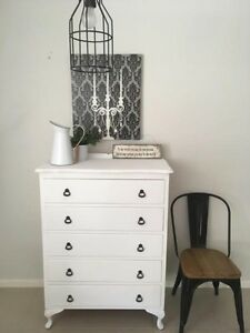 French Provincial Shabby Chic Vintage Distressed Tallboy drawers Camden Camden Area Preview