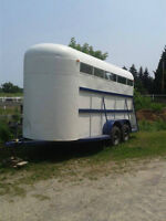 Stock type bumper pull horse trailer for sale! Great condition!