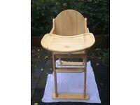Wooden Folding John Lewis Highchair