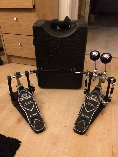 Iron cobra double kicker pedal