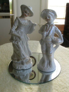 PAIR of ADORABLE OLD-FASHIONED CHINA FIGURINES...