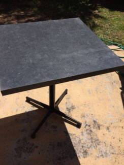 Square Cafe Table and 3 cushioned chairs