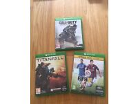 XBox One games - COD Advanced Warfare, Titanfall & Fifa 15