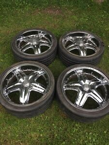 """20"""" rims and tires for sale!"""