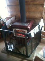 safety gate for woodstove or fireplace for kids