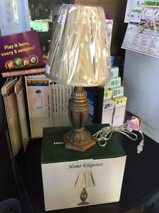 Brand new - 17 inch Table Lamp Antique Finish - OPEN 24/7