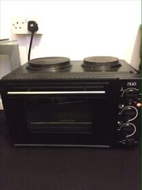 Mini Oven Grill with Double Hob Good Condition Can Deliver Locally for £5