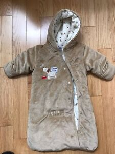 3-6mth snow suit bunting bag like new!