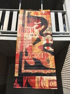 10ft Tall Vinyl Obey/Shepard Fairey Store Display Banner