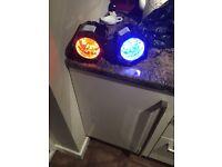 2 led spotlights