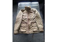 Superdry men's quilted 2 zip collared jacket