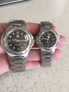"""Matching Men's & Ladies Tag Heuer """"professional"""" watches"""