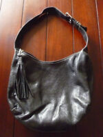 Small Black Roots Hobo Bag just $75! Prince leather  Approximate