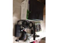 Xbox 360 with Kinect and 8 games 2 wireless controllers