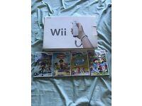 Nintendo Wii plus 4 Games