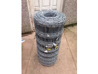 Steel stick fencing new roll