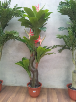 Artificial 4 heads Bird-of-paradise plant