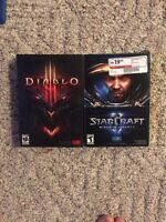 Starcraft 2. Diablo 3.