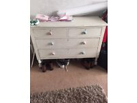 Solid wood 'shabby chic' drawers