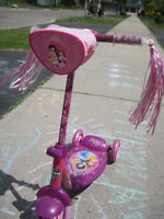 Lightly used girl's scooter (ages 2-5)
