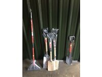 Garden set - stainless steel spades etc