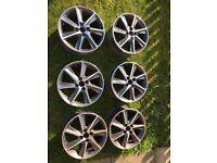 Honda Civic jazz alloy wheels.
