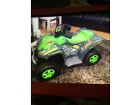 Kids battery operated quad in new condition