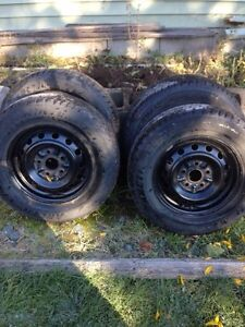 195 70 R14 rims and tires Prince George British Columbia image 1