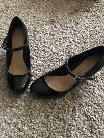 Dorothy Perkins, Black patent shoes, size 5