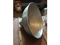 Vintage industrial photography lamp shade