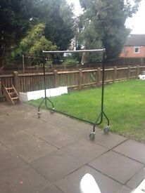 Steel frame clothes rail on wheels heavy duty £ 50 ono