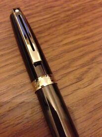 Sheaffers Prelude Fountain Pen Brown with Gold Trim