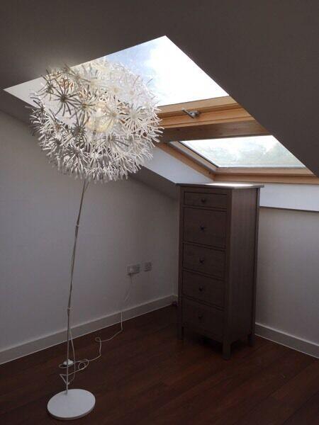 ikea maskros floor lamp white in sutton london gumtree. Black Bedroom Furniture Sets. Home Design Ideas