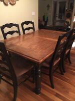 LARGE KITCHEN TABLE AND CHAIR SET FOR SALE