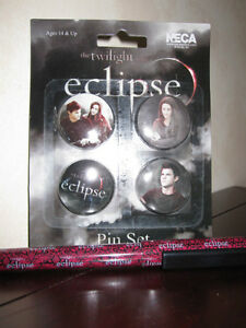 The Twilight Eclipse 4 Pc. Pin and Pen Set