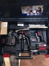 New Bosch Hammer Drill - 36v - 4ah Batteries