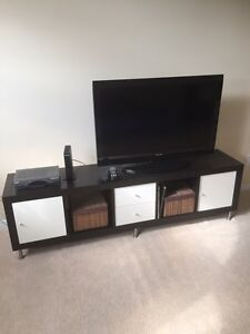 Ikea shelving unit with inserts