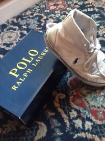 White Ralph Lauren Polo Shoes/ Trainers Size 8 - Euro 42 Comes with Box Can Deliver