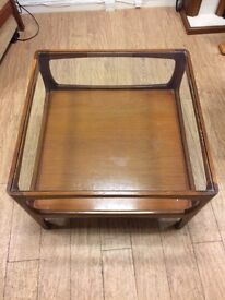 Large vintage t ask framed coffee table