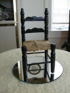 ADORABLE VINTAGE MINI LADDER-BACK-STYLE DOLL'S CHAIR