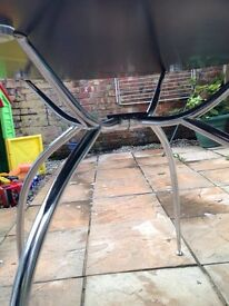 Glass table no chairs