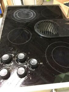 Kitchenaid electric stovetop with downdraft