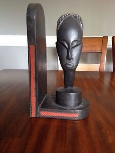 Wooden carved book end