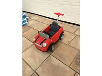 Mini Cooper push buggy