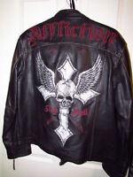 Manteau en cuir véritable Affliction numéroté
