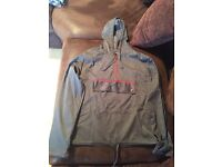 Grey half zip hooded jacket size 8