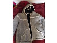MENS Warm hooded jumper jacket size XL VGC